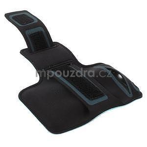 Bežecké puzdro na ruku pre mobil do veľkosti 152 x 80 mm - svetlomodré - 3