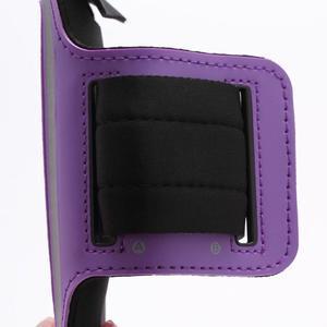 Športové puzdro na ruku až do veľkosti mobilu 140 x 70 mm - fialové - 3