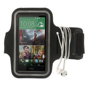 Čierne Sports Gym puzdro na ruku pre veľkosť mobilu až 150 x 70 mm - 3