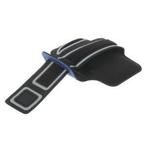 Fitsport puzdro na ruku pre mobil do veľkosti až 145 x 73 mm - tmavomodré - 3
