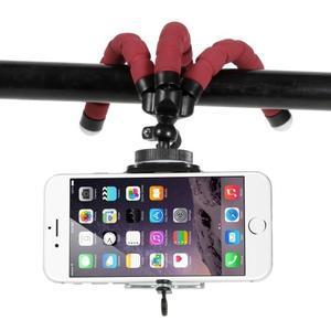 Trojnožkový stativ pre mobilné telefony - červený - 3
