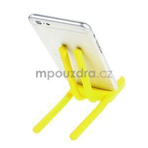 Tvarovatelný stojánek na mobil, žltý - 3