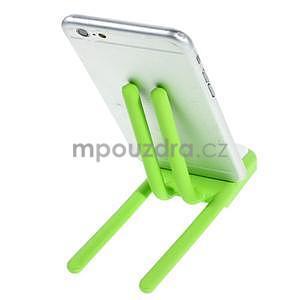 Tvarovatelný stojánek na mobil, zelený - 3