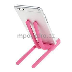 Tvarovatelný stojánek na mobil, růžový - 3