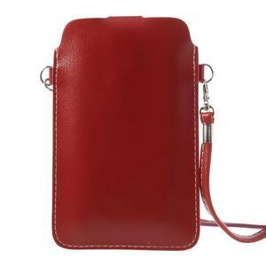 Univerzálne puzdro/kapsička pre mobil do rozmerov 180 x 110 mm - červené - 3