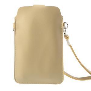 Univerzální pouzdro/kapsička na mobil do rozměru 180 x 110 mm - champagne - 3