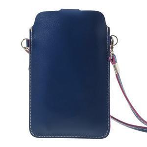 Univerzálne puzdro/kapsička pre mobil do rozmerov 180 x 110 mm - modré - 3