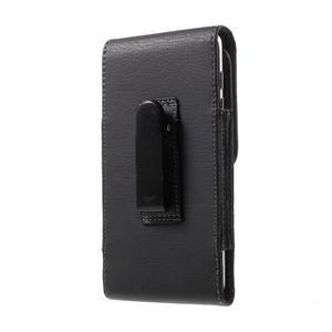 Kapsička na mobil na opasek pro telefony do rozměru 152 × 74 mm - černá - 3