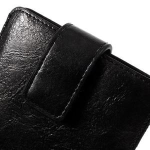 Univerzální flipové pouzdro pro mobily do 150 x 85 mm - černé - 3