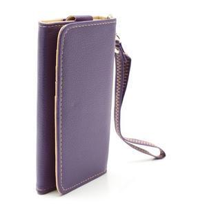 Softy univerzálne puzdro pre mobil do 137 × 71 × 8,6 mm - fialové - 3