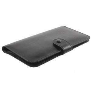 Peňaženkové univerzálne puzdro pre mobil do 140 x 68 x 10 mm - čierne - 3