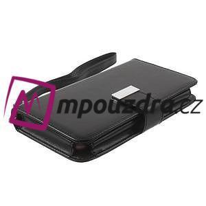 Luxusné univerzálne puzdro pre telefony do 140 x 70 x 12 mm - čierne - 3