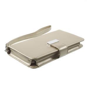 Luxusné univerzálne puzdro pre telefony do 140 x 70 x 12 mm - zlaté - 3