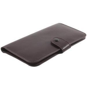 Peňaženkové univerzálne puzdro pre mobil do 140 x 68 x 10 mm - tmavohnedé - 3