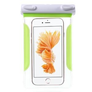 Nox7 vodotesný obal pre mobil do rozmerov 16.5 x 9.5 cm - zelený - 3