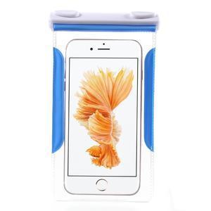 Nox7 vodotesný obal pre mobil do rozmerov 16.5 x 9.5 cm - modrý - 3