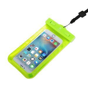 Base IPX8 vodotěsný obal na mobil do 158 x 78 mm - zelený - 3