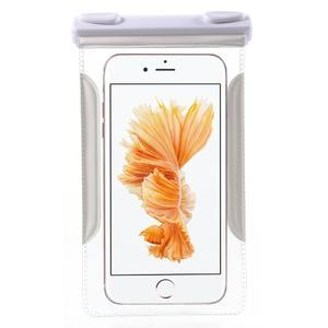 Nox7 vodotesný obal pre mobil do rozmerov 16.5 x 9.5 cm - biely - 3