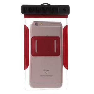 Nox7 vodotesný obal pre mobil do rozmerov 16.5 x 9.5 cm - červený - 3