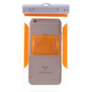 Nox7 vodotesný obal pre mobil do rozmerov 16.5 x 9.5 cm - oranžový - 3