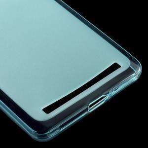 Matný gélový obal pre mobil Lenovo K5 Note - modrý - 4