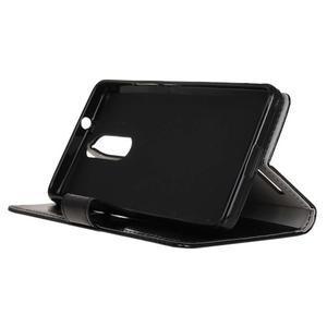 Horse PU kožené puzdro pre mobil Lenovo K5 Note - čierné - 4