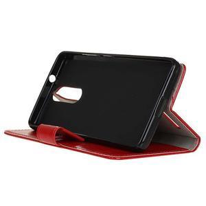 Horse PU kožené puzdro pre mobil Lenovo K5 Note - červené - 4