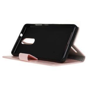 Horse PU kožené puzdro pre mobil Lenovo K5 Note - ružové - 4
