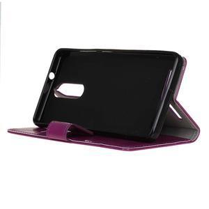 Horse PU kožené pouzdro na mobil Lenovo K5 Note - fialové - 4