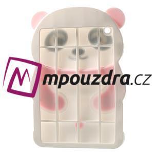 3D silikónové puzdro pre iPad mini 2 - ružová panda - 4