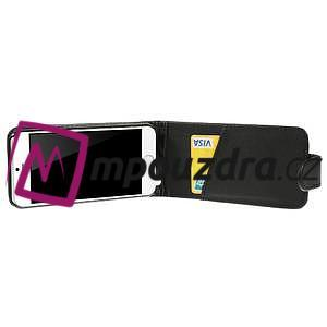 Kožené flipové puzdro pre iPhone 6, 4.7 - čierné - 4