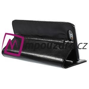 Peňaženkové kožené puzdro na iPhone 6, 4.7 - čierné - 4