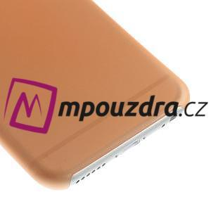 Ultra slim 0.3 mm plastové puzdro pre iPhone 6, 4.7  - oranžové - 4