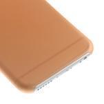 Ultra slim 0.3 mm plastové puzdro na iPhone 6, 4.7  - oranžové - 4/5