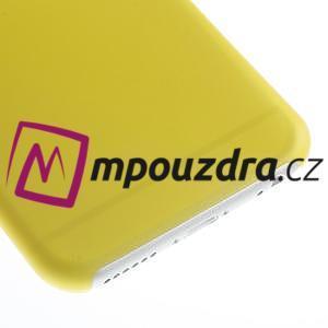 Ultra slim 0.3 mm plastové puzdro pre iPhone 6, 4.7  - žlté - 4