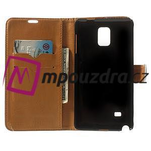 Peňaženkové  kožené puzdro na Samsung Galaxy Note 4- biele - 4