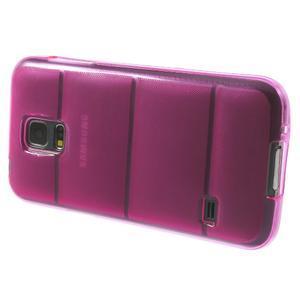 Gélové puzdro pre Samsung Galaxy S5 mini G-800- vesta ružová - 4