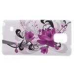 Gélové puzdro pre Samsung Galaxy Note 4- fialový kvet - 4/5