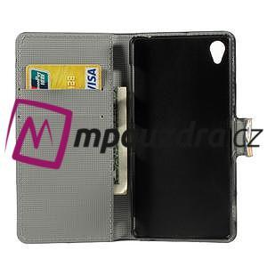 Peňaženkové puzdro na Sony Xperia Z3 D6603 - farebné vzory - 4
