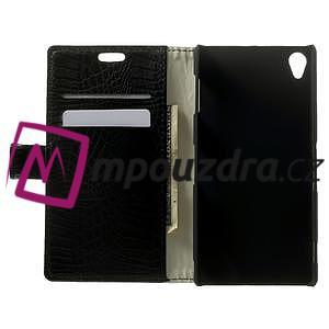 Peněženkové PU kožené pouzdro na Sony Xperia Z3 D6603 - černé - 4