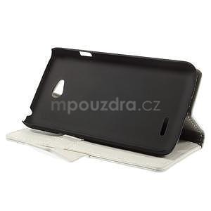 Peňaženkové puzdro pre LG L65 D280 - biele - 4