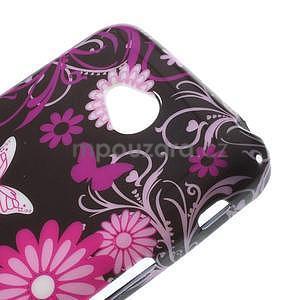 Gélové puzdro pre LG L65 D280 - motýľ a kvet - 4