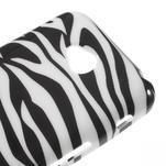 Gélové puzdro na LG L65 D280 - bílá zebra - 4/5