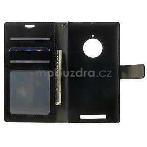 Peňaženkové puzdro na Nokia Lumia 830 - čierné - 4
