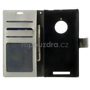 Peňaženkové puzdro na Nokia Lumia 830 - biele - 4