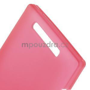 Gélové matné puzdro na Nokia Lumia 830 - červené - 4