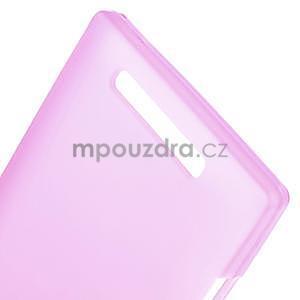Gélové matné puzdro na Nokia Lumia 830 - růžové - 4