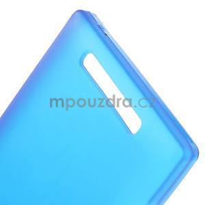 Gélové matné puzdro na Nokia Lumia 830 - modré - 4