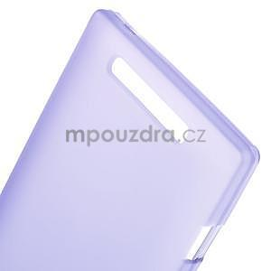 Gélové matné puzdro na Nokia Lumia 830 - fialové - 4
