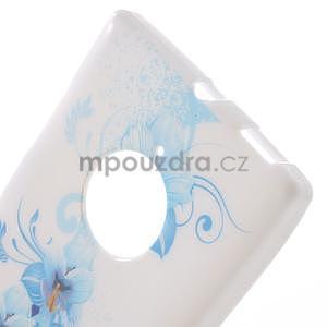 Gélové puzdro na Nokia Lumia 830 - modrá lilie - 4